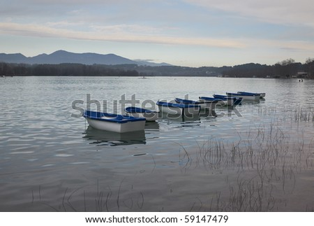 Loch of Banyoles - stock photo