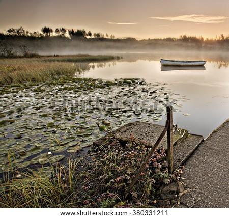 Loch Rusky Boats - stock photo