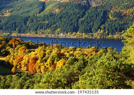 Lochness in Highlands, Scotland, United Kingdom - stock photo