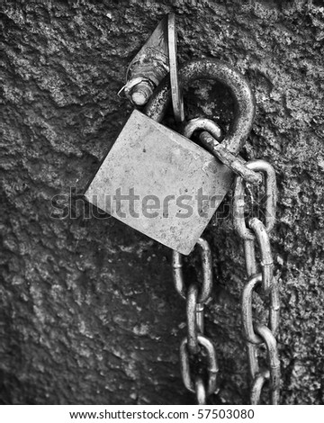 Lock and chain - stock photo