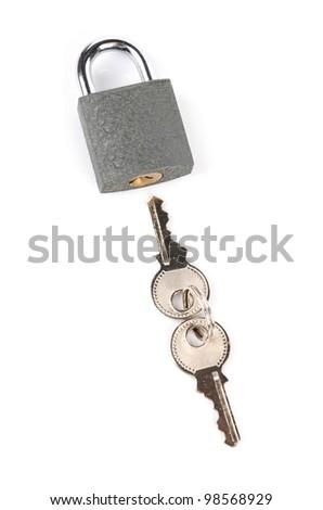 Lock and keys - stock photo