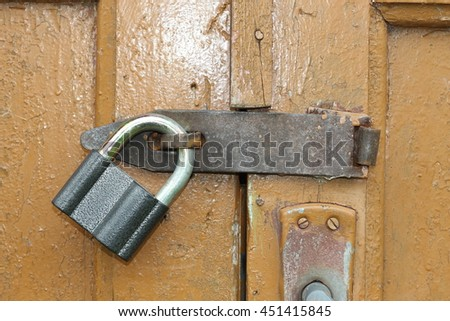 Lock at the door
