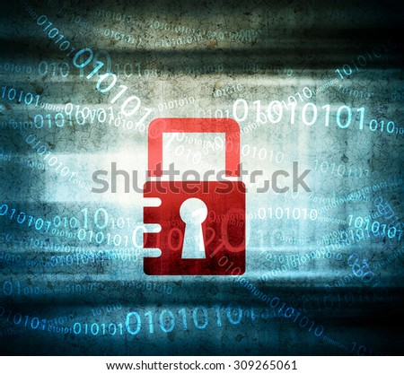 Lock background - stock photo