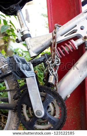 lock bicycle - stock photo
