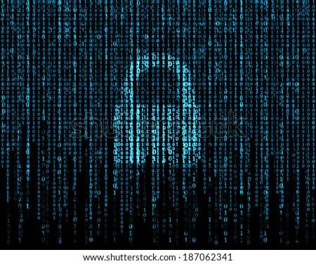 Lock I can and matrix. - stock photo