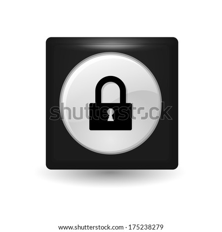 Lock icon -  metal app button
