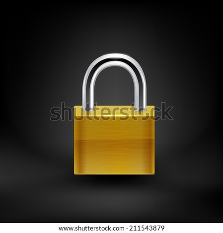lock icon.Raster copy. - stock photo