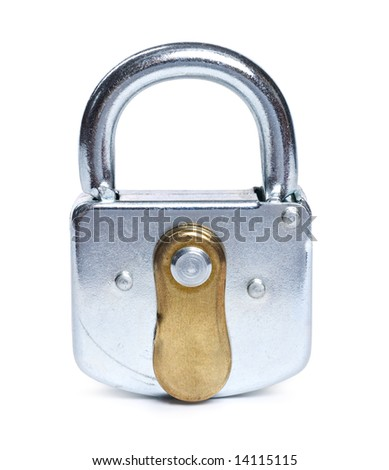 Lock isolated on white (clipping path) - stock photo