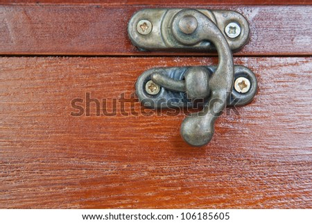 Lock of the old decorative casket - stock photo