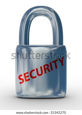lock on a white background. Isolated 3D image