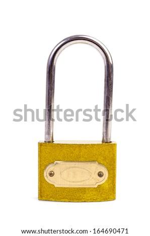 Lock on isolated white background - stock photo