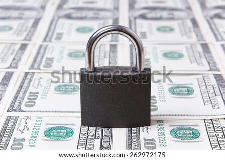 lock pad on banknotes