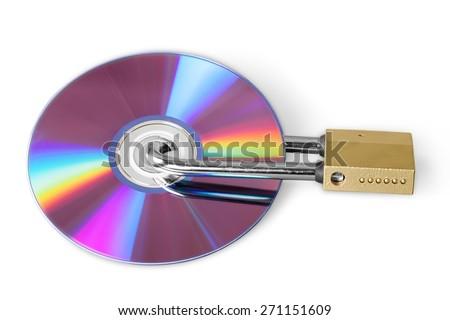 Lock, Security, CD. - stock photo