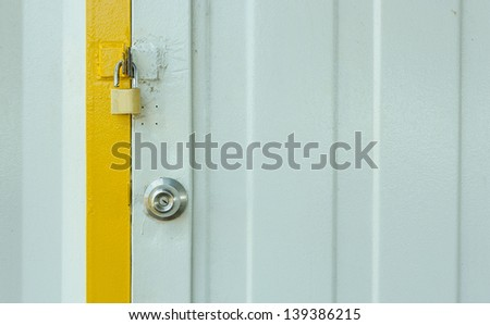 Lock the door - stock photo