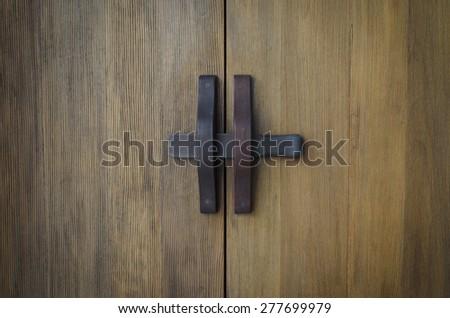 Lock the door in thai style. - stock photo
