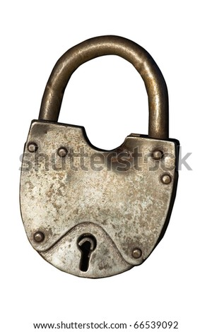 lock , vintage object - stock photo