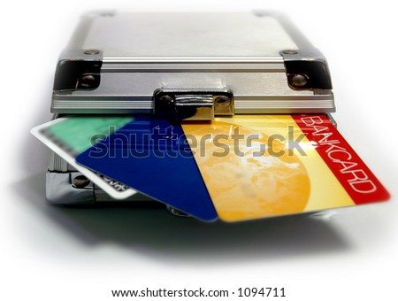Lock your Bank Cards - stock photo