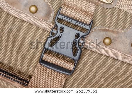 locked bag color black vintage - stock photo