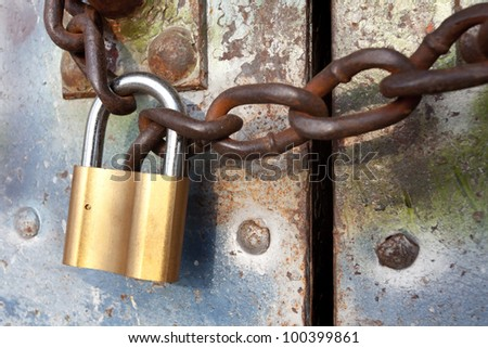 locked gate - stock photo