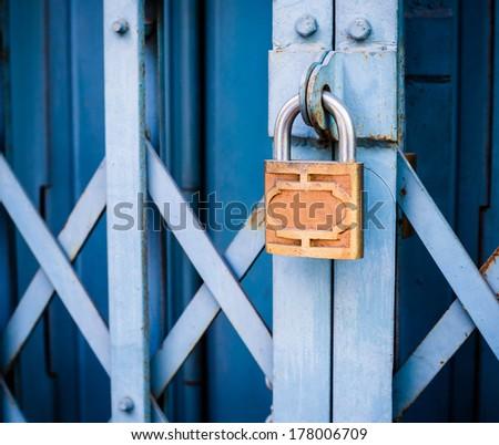 locked gate - stock photo