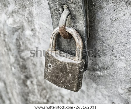 locked padlock  - stock photo