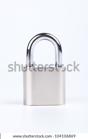 Locked padlock on a white background