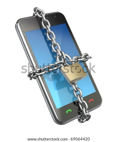 Locked phone - stock photo
