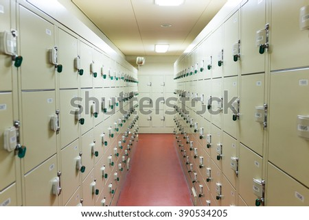 Locker - stock photo