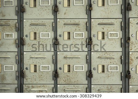 Locker in school - stock photo