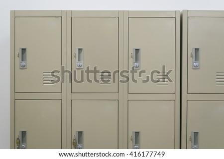 Locker in the school - stock photo