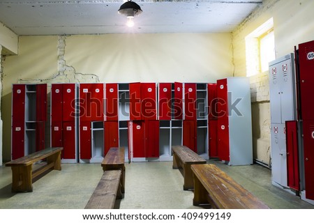 Locker Room in the Gym - stock photo