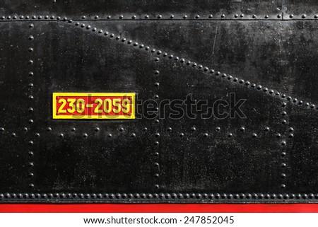 locomotive detail 2 - stock photo