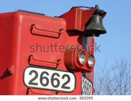 Locomotive headlight. - stock photo