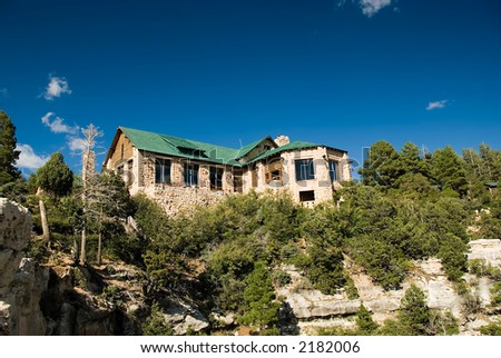 Lodge at the North Rim of the Grand Canyon - stock photo
