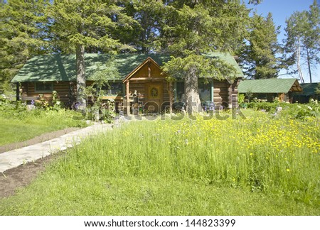 Lodge of Taft Ranch in Centennial Valley, Lakeview, MT - stock photo