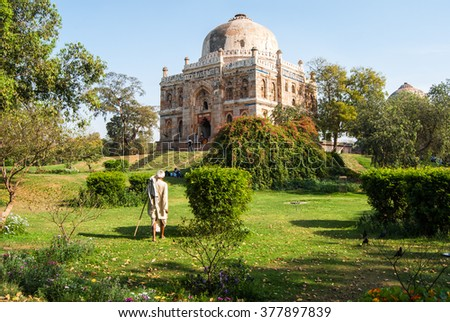 Lodhi Gardens in New Delhi, India - stock photo