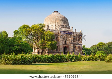 Lodi Gardens - architectural works of the 15th century Sayyid and Lodhis, an Afghan dynasty, New Delhi