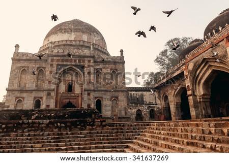 Lodi Gardens at sunrise in Delhi, India - stock photo