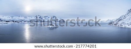 lofoten island - stock photo