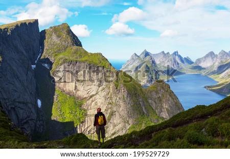 Lofoten island,Norway - stock photo