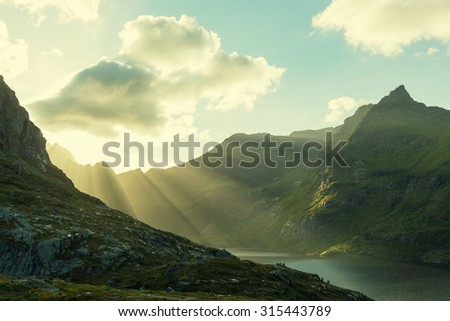 Lofoten island, Norway - stock photo