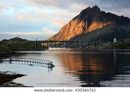 Lofoten islands in northern Noway - stock photo
