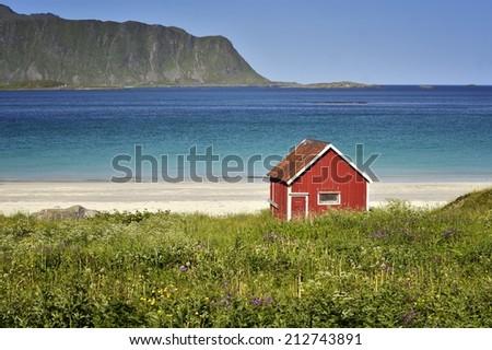 Lofoten islands in Norway - stock photo