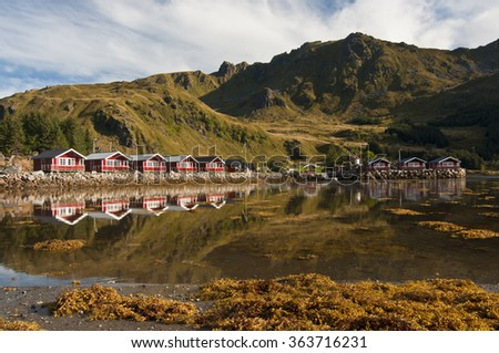 Lofoten islands, Norway / Lofoten is an archipelago and a traditional district in the county of Nordland, Norway.