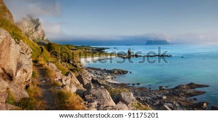 Lofoten islands of Norway. - stock photo