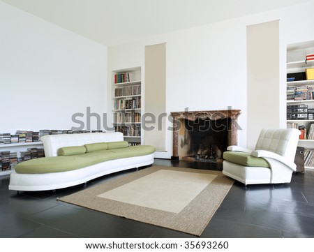 loft interior - stock photo