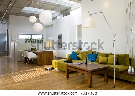 loft-open space - stock photo