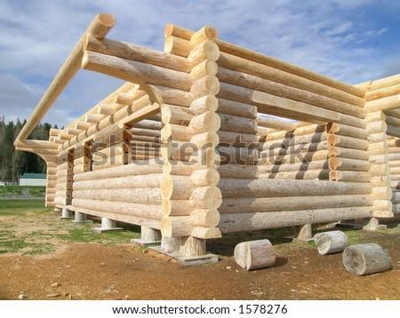 Log Cabin - stock photo