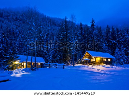 Winter Cabin Stock Images RoyaltyFree Images Vectors - Christmas cabin fireplace scenes
