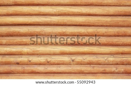 Log house texture as a grunge background - stock photo